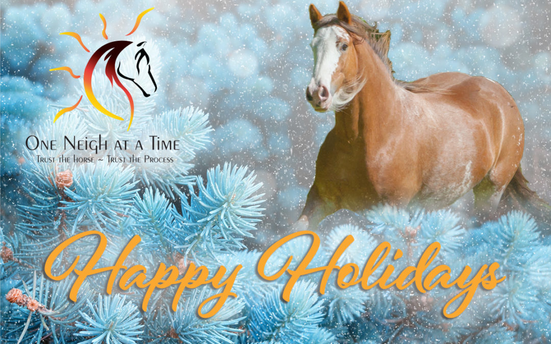 "My Horses Neigh, ""Happy Holidays."""
