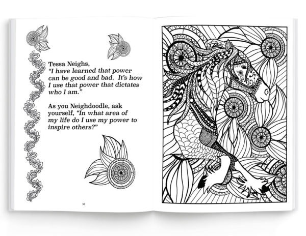 Neighdoodle Adult Meditative Coloring Book and Journal